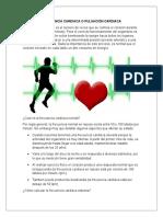 Frecuencia Cardiaca o Pulsación Cardiaca