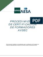 Procedimiento formadores AVSEC