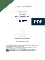 Yeshu El Plagiador