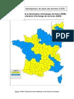 Carte Des Centres Interregionaux de Saisie Des Donnees (Cisd)
