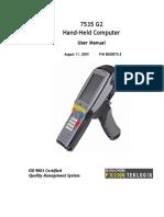8424.7535 G2 Windows CE5.0 User Manual