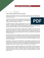 Doctrinas y Conceptos Financieros 2003