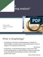 Lec 13 a Graphology