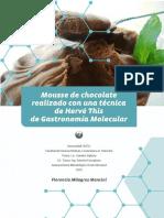 mousse de chocolate con cocina molecular
