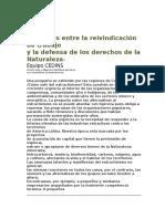 Grupo CEDINS-Tensiones entre la reivindicación del trabajo y la defensa de los derechos de la Naturaleza