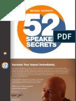 Michael Hudson 52 Speaker Secrets