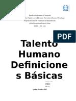 TALENTO HUMANO.definiciones