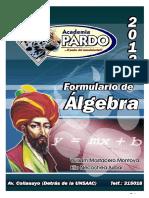 Formulario PARDO (Algebra) - Copia