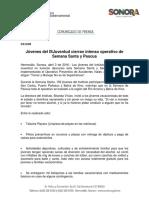 03/04/16 Jóvenes del Instituto Sonorense de la Juventud cierran intenso operativo de Semana Santa y Pascua -C.041608