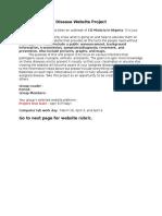 disease website project