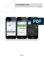 Saxo Mobile Trader Instruction