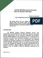 Fundamentación Filosófica de Los Derechos Humanos en Jacques Maritain