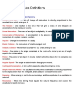 Physics Definitions
