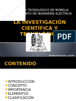 La Investigación Científica y Tecnológica 1
