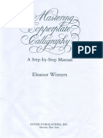 Pencil Calligraphy Worksheet | Writing | Typography