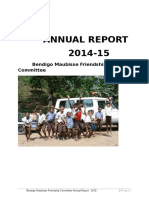 Bendigo Maubisse Friendship Committee 2014-15 annual report