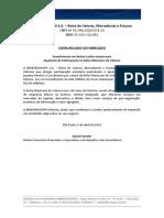 Comunicado ao Mercado - Investimento na Am?rica Latina (Bolsa Mexicana de Valores)
