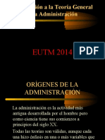 Introduccion a La Teoria General de La Administracion Eutm 2014
