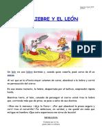 LA LIEBRE Y EL LEÓN
