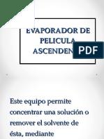 evaporador pelicula Ascendente 2016
