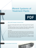 Different Systems of Treatment Plants