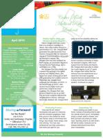 April Family Newsletter
