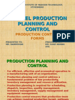 Production control forms