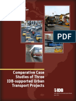 Comparative Case Studies Three IDB Supported Urban Transport Projects