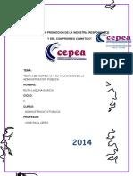 Monografia de Teorias de Sistema en La Administracion Publica