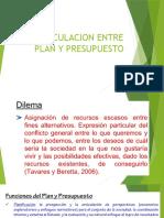 Articulacion Entre Plan y Presupuesto