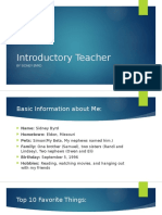 introductory teacher