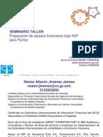 Preparación de Estados Financieros Bajo Niif Para Pymes Ctcp