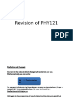 Review of PHY121