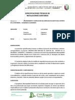 Especificaciones Tecnicas de Instalaciones Sanitarias-mercado La Encañada