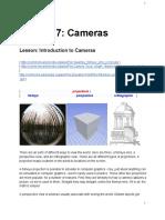 Uda City udacity lessonLesson 7 Cameras