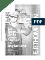 E.P.thompson Formacion Clase Obrera Inglaterra (Prefacio Cap6 Explotacion)