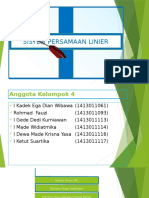 Sistem Persamaan Linier