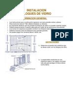 Especificaciones Paredes de Block de Vidrio
