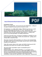 Project Report on Entrepreneurship in India