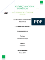 Carta Antropométrica