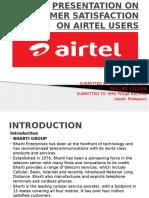 Presentation on Customer Satisfaction of Airtel Users