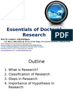 Essentials of Doctoral Research