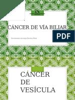CANCER DE VÌA BILIAR