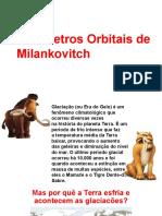 Parametros orbitais de Milankovicth
