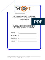 Mcet Civil Hydraulic Engg Lab Manualver3.0