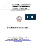 16.03.2016 Nannayacet 2016 Information Brochure