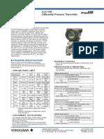EJA 110 E-DP Transmitter