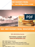 SEC 460 GUIDES Real Education - Sec460guides.com