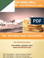 SEC 450 NERD Real Education - Sec450nerd.com