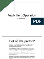 03 Fetch Unit Operation
